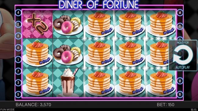 Crypto Wild featuring the Video Slots Diner of Fortune with a maximum payout of $100,000