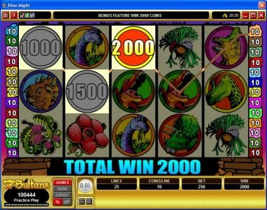 10Bet featuring the Video Slots Dino Might with a maximum payout of $40,000