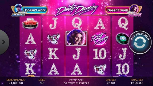 Play slots at Slots Heaven: Slots Heaven featuring the Video Slots Dirty Dancing with a maximum payout of Jackpot