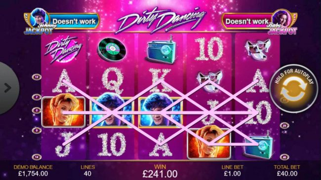 Winner Online featuring the Video Slots Dirty Dancing with a maximum payout of Jackpot