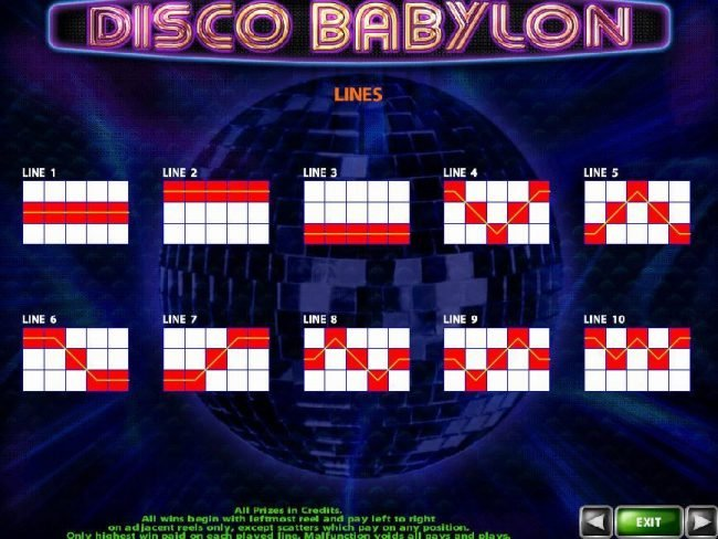 Videoslots featuring the Video Slots Disco Babylon with a maximum payout of $500,000
