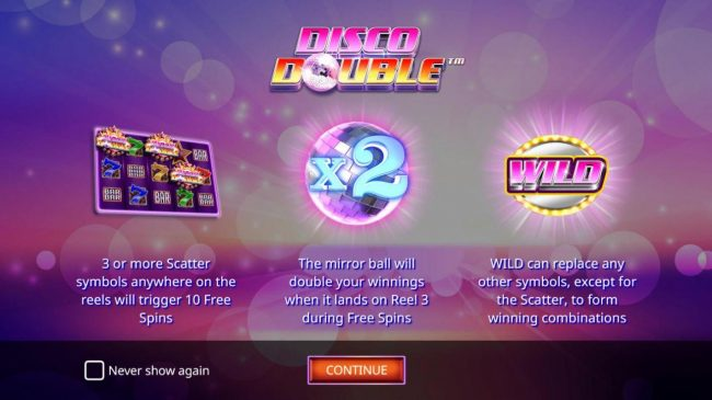 7 Gods Casino featuring the Video Slots Disco Double with a maximum payout of $200,000