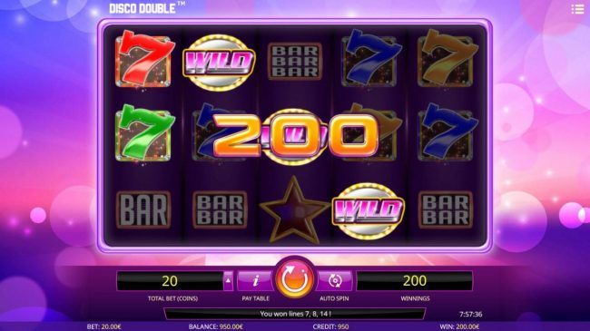 Betchan featuring the Video Slots Disco Double with a maximum payout of $200,000