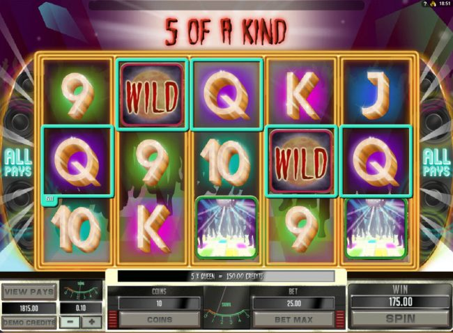 Disco Night Fright :: Multiple winning combinations