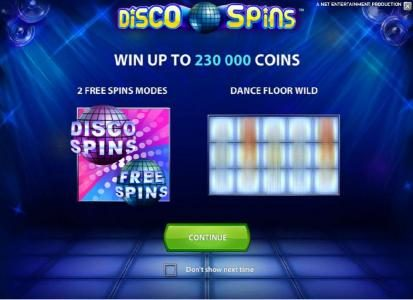 emu Casino featuring the Video Slots Disco Spins with a maximum payout of $2000