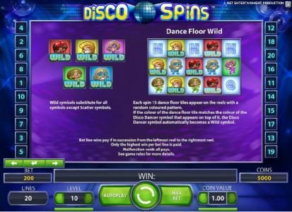 TheBesCasino featuring the Video Slots Disco Spins with a maximum payout of $2000