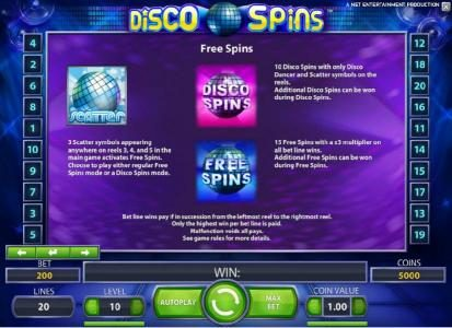 Guru Play featuring the Video Slots Disco Spins with a maximum payout of $2000