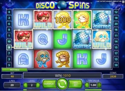 Mr Play featuring the Video Slots Disco Spins with a maximum payout of $2000