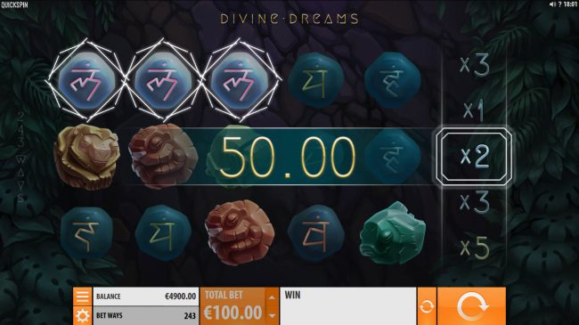 Amsterdam Casino featuring the Video Slots Divine Dreams with a maximum payout of $364,500
