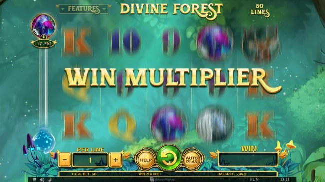 Superior featuring the Video Slots Divine Forest with a maximum payout of $45,000