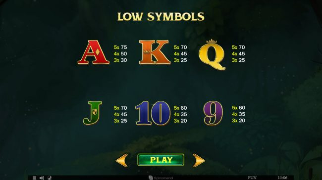 24 Vip featuring the Video Slots Divine Forest with a maximum payout of $45,000