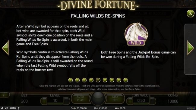 Wixstars featuring the Video Slots Divine Fortune with a maximum payout of $60,000