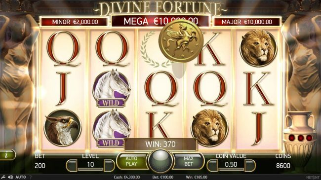 Collect 3 gold coins during the main game to trigger the Jackpot Bonus