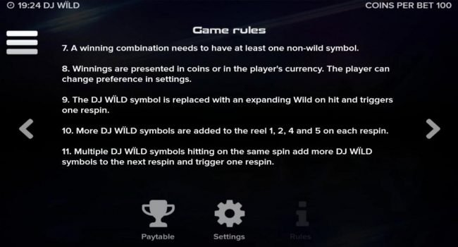 DJ Wild :: General Game Rules - Continued