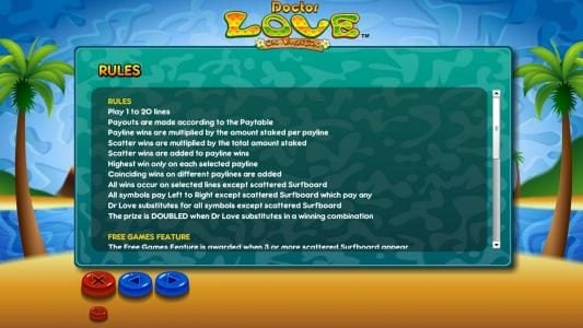 Hello featuring the Video Slots Doctor Love On Vacation with a maximum payout of $10,000