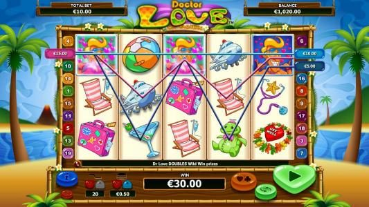 All Wins Casino featuring the Video Slots Doctor Love On Vacation with a maximum payout of $10,000