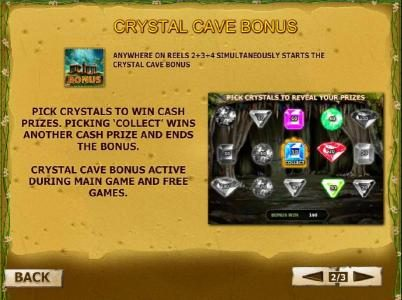 Goddess of Life :: crystal cave bonus game rules and how to play