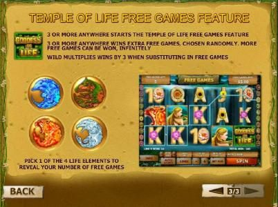Goddess of Life :: temple of life free games feature rules and how to play