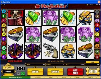 Play slots at Casino Classic: Casino Classic featuring the Video Slots Dogfather with a maximum payout of $37,500