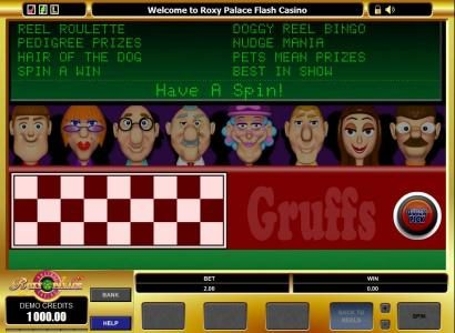 Doggy Reel Bingo :: bonus feature  game board