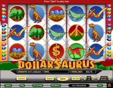 Celtic featuring the Video Slots Dollarsaurus with a maximum payout of $20,000
