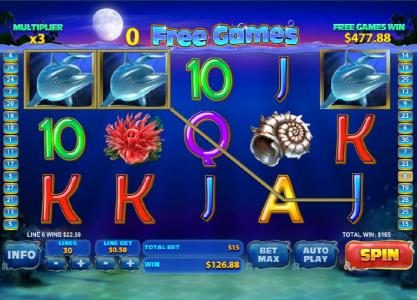 Come On featuring the Video Slots Dolphin Cash with a maximum payout of $400,000