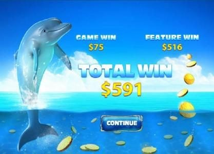 free games feature payout a $591 big win
