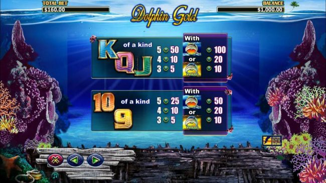 Royal House featuring the Video Slots Dolphin Gold with a maximum payout of $31,400