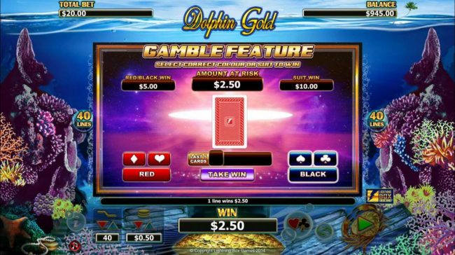 Company featuring the Video Slots Dolphin Gold with a maximum payout of $31,400