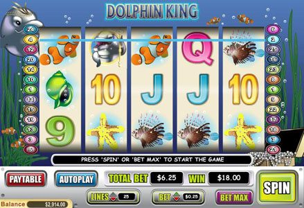 Play slots at Lincoln: Lincoln featuring the Video Slots Dolphin King with a maximum payout of $50,000