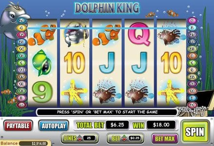 Red Stag featuring the Video Slots Dolphin King with a maximum payout of $50,000