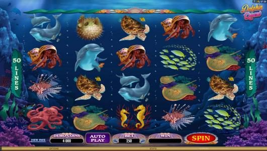 Play slots at All Jackpots: All Jackpots featuring the Video Slots Dolphin Quest with a maximum payout of $31,250