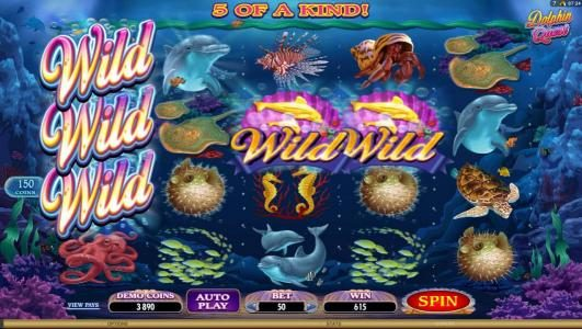 Play slots at Players Palace: Players Palace featuring the Video Slots Dolphin Quest with a maximum payout of $31,250