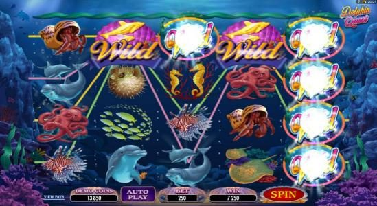 Cabaret Club featuring the Video Slots Dolphin Quest with a maximum payout of $31,250