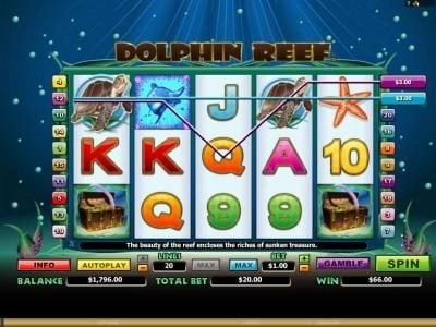 multiple winning paylines and a pair of scatter symbols triggers a $66 jackpot