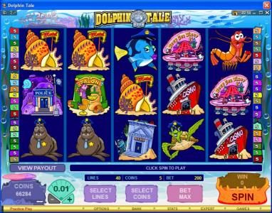 Play slots at Golden Palace: Golden Palace featuring the Video Slots Dolphin Tale with a maximum payout of $375,000
