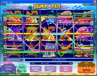 Lucky Nugget featuring the Video Slots Dolphin Tale with a maximum payout of $375,000