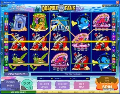 Lucky Bets featuring the Video Slots Dolphin Tale with a maximum payout of $375,000