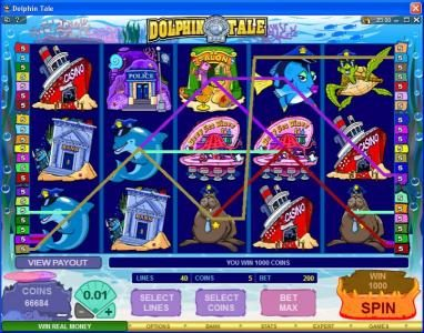 Ruby Fortune featuring the Video Slots Dolphin Tale with a maximum payout of $375,000