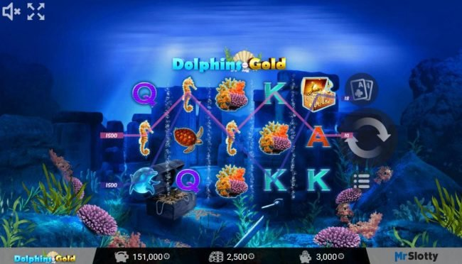 X-Bet featuring the Video Slots Dolphins Gold with a maximum payout of $200,000