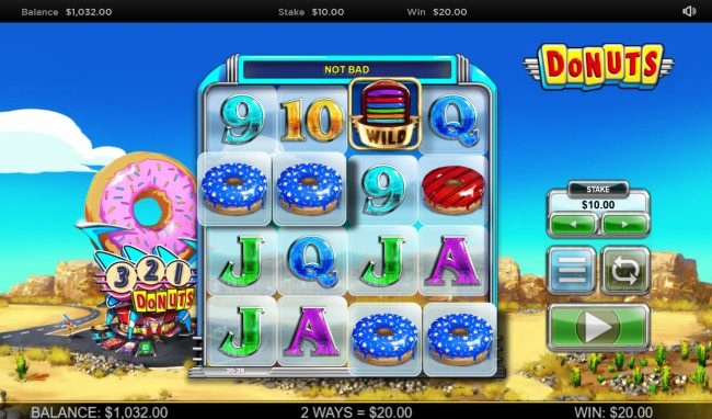 Vbet Casino featuring the Video Slots Donuts with a maximum payout of $100,000
