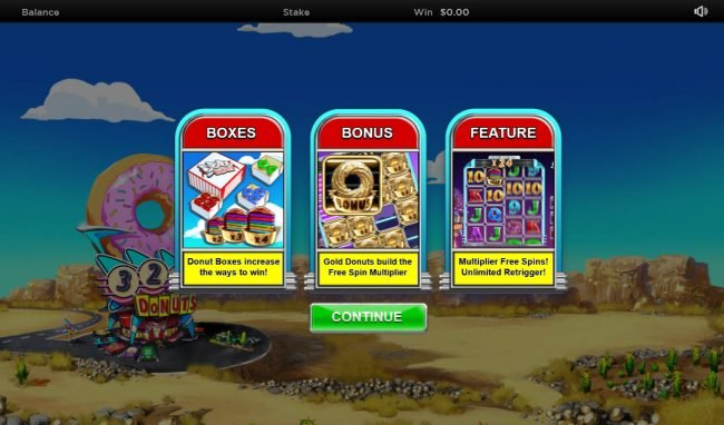 Play slots at Slot King: Slot King featuring the Video Slots Donuts with a maximum payout of $100,000