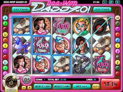 Royal Planet featuring the Video Slots Doo-Wop Daddy-O with a maximum payout of $25,000