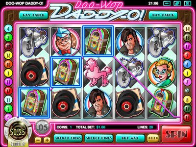 TheBesCasino featuring the Video Slots Doo-Wop Daddy-O with a maximum payout of $25,000