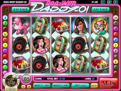CoCoa featuring the Video Slots Doo-Wop Daddy-O with a maximum payout of $25,000