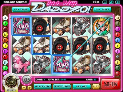 Supernova featuring the Video Slots Doo-Wop Daddy-O with a maximum payout of $25,000
