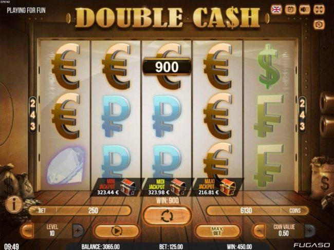 Play slots at Boo Casino: Boo Casino featuring the Video Slots Double Cash with a maximum payout of $135,000