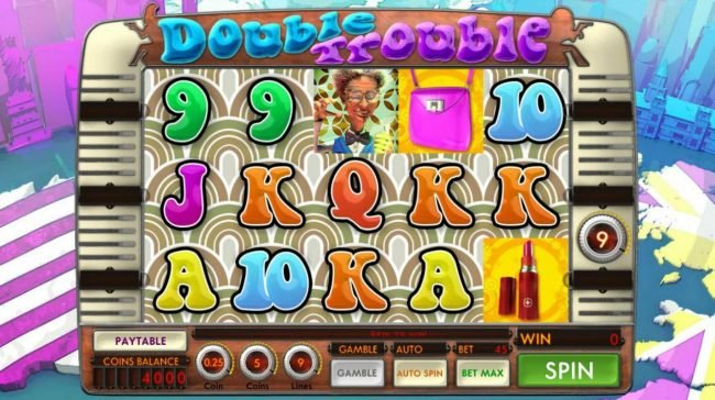 India Slots featuring the Video Slots Double Trouble with a maximum payout of $11,250
