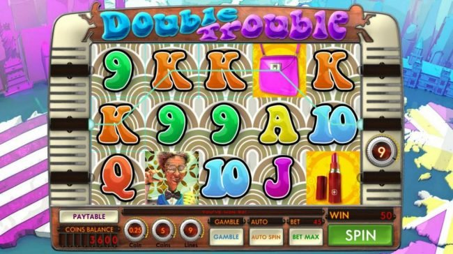Villa Fortuna featuring the Video Slots Double Trouble with a maximum payout of $11,250