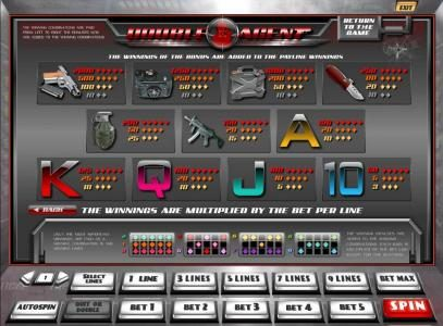 7Bit featuring the Video Slots Double Agent with a maximum payout of $45,000